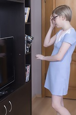 Abby masturbates while enjoying a DVD - pic #1