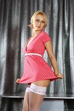 Allison lifts her short pink dress - pic #1