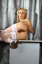 Allison lifts her short pink dress - pic #10