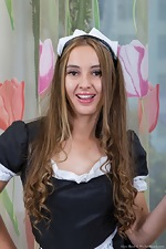 Alya Shon is a sexy french maid for today  - pic #2