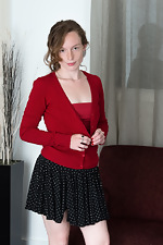 Ana Molly strips naked all dressed in red  - pic #4