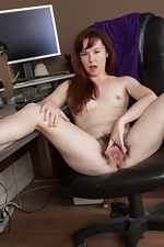 Annabelle Lee strips naked from her purple dress  - pic #12