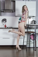 Kitchen play and oiled up fun with Arianna  - pic #4