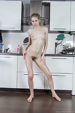 Kitchen play and oiled up fun with Arianna  - pic #14