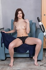 Atisha strips naked after finishing her cleaning - pic #3