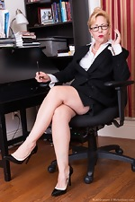 Badd Gramma strips naked in her office - pic #1