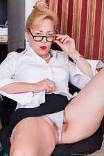 Badd Gramma strips naked in her office - pic #4