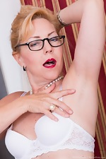 Badd Gramma strips naked in her office - pic #6