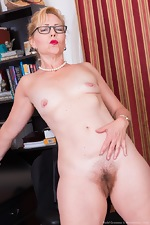 Badd Gramma strips naked in her office - pic #13