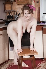 Bazhena gets naked and sexy in her kitchen - pic #15