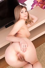 Candy Bloom strips naked as a sexy maid - pic #10