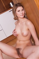 Candy Bloom strips naked in her kitchen today - pic #16