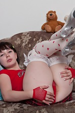 Candy S likes her red outfit and stockings - pic #2