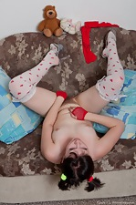 Candy S likes her red outfit and stockings - pic #6