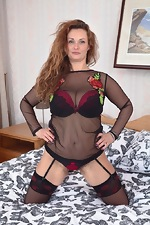 Cecelia Hart strips off her lingerie in bed - pic #5