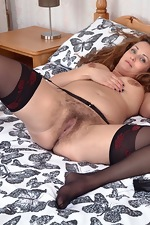 Cecelia Hart strips off her lingerie in bed - pic #10