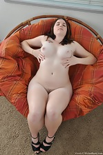 Hairy Cerah spreads her milky thighs - pic #12