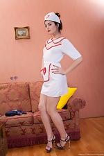 Hairy Cherry plays naughty nurse - pic #1