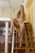 Chloe B staircase strip tease - pic #2