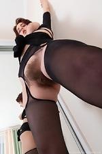 Chrystal Mirror masturbates after stripping naked - pic #5