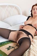 Chrystal Mirror masturbates after stripping naked - pic #6