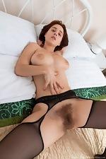 Chrystal Mirror masturbates after stripping naked - pic #8