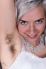 Cordelia shows her hairy pussy at work - pic #2