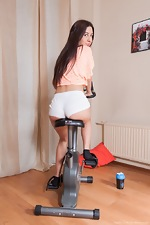 Dalila has hot sex after a sexy workout - pic #1