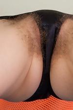Darina's orange mesh see-through shirt - pic #10
