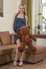 Darina Nikitina strips and masturbates with a toy - pic #1