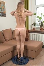 Darina Nikitina strips and masturbates with a toy - pic #4