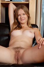 Red head Denisma with perky tits and hairy pussy - pic #9