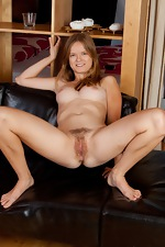 Red head Denisma with perky tits and hairy pussy - pic #15