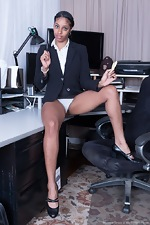 Dharma Grace strips naked at her office today - pic #1