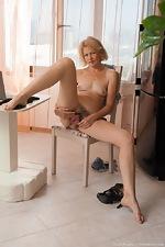 Diana Douglas masturbates at her desk today  - pic #12