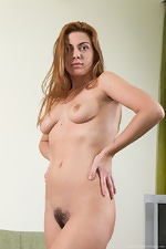 Edica wears denim in this hairy porn - pic #6