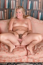 Elle MacQueen strips naked in her private study - pic #11