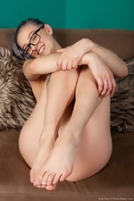 Ellie Kay enjoys stripping naked by a fireplace  - pic #8