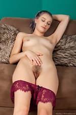 Ellie Kay enjoys stripping naked by a fireplace  - pic #11