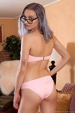 Ellie Kay strips naked in her living room - pic #3