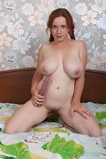 Elouisa masturbates in bed wearing red lingerie  - pic #16