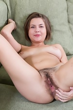 Emilia couldn't get any cuter with her hairy pussy - pic #12