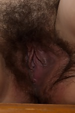 Kinky Esther touches her hairy bush - pic #13