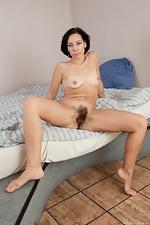 Cute girl Eva's pussy hair shows through panties - pic #11