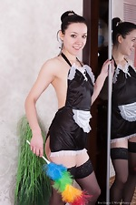 Eva Lisana is a sexy stripping maid  - pic #1