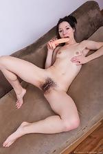 Eva Lisana slides off her pink skirt to masturbate - pic #14