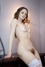 Ginger stuns in white lingerie - pic #12