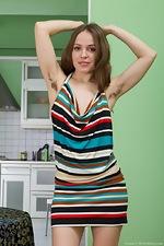 Gretta's hirsute body and the striped dress - pic #1