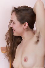 Gretta takes a break from work in this hairy porn - pic #16