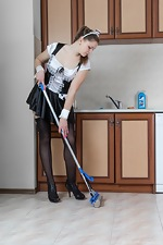 Guyana is a sexy naked maid who does sexy chores  - pic #1